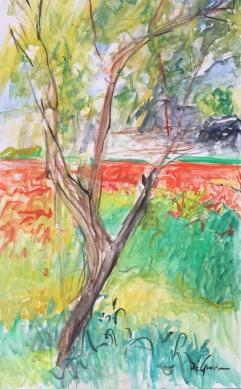 "Caledde Specchia ""Atmosfere d'aprile"" – olio su tela – cm 60x100 - anno 2019"
