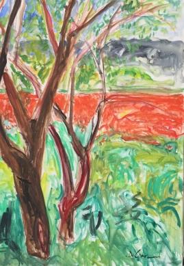 """Caledde Specchia """"Il Risveglio"""" – olio su tela cm. 70x100 – anno 2019"""