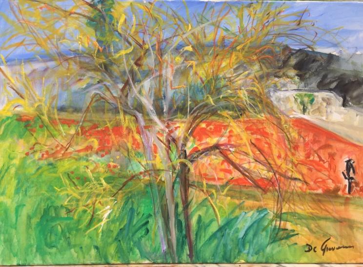 """Caledde Specchia """"Impressioni di primavera"""" olio su tela - cm70x100 - anno2019"""